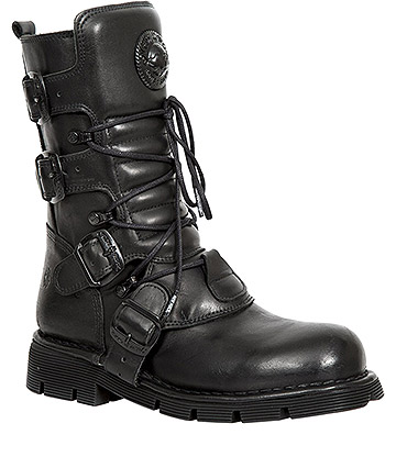 New Rock M.1473-S49 Comfort-Light Calf Boots (Black)