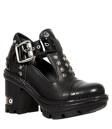 New Rock M.NEOTYRE02-S2 Neotyre Studded Heeled Shoes (Black)