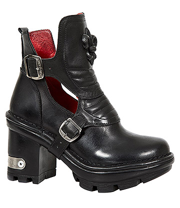 New Rock M.NEOTYRE66-S1 Neotyre Heeled Boots (Black)