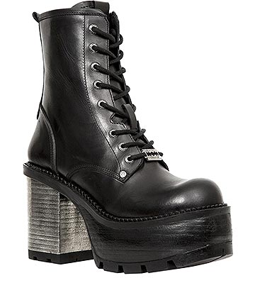 New Rock M.SEVE02-S1 Seventy Ankle Boots (Black)
