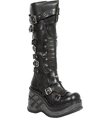 New Rock M.SP9831-S1 Neo Cuna Sport Knee High Boots (Black)