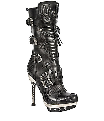 New Rock M.PUNK049-S1 Canyon Flame Stilleto (Black)