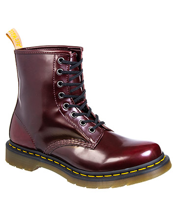 Dr Martens 1460 Vegan Cambridge Brush Boots (Cherry Red)