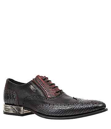 New Rock M.NW136-S8 VIP Python Shoes (Black/Red)