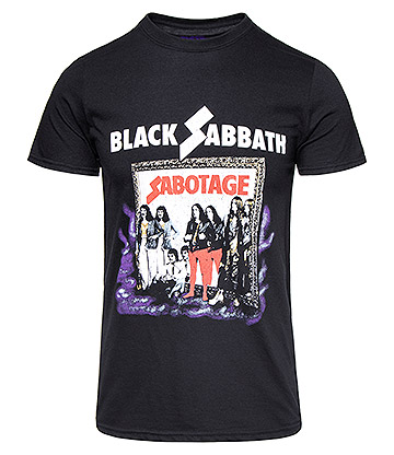 Official Black Sabbath Sabotage T Shirt (Black)