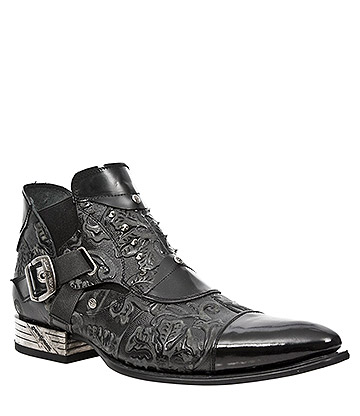 New Rock M.NW135-S2 VIP Vintage Shoes (Black)