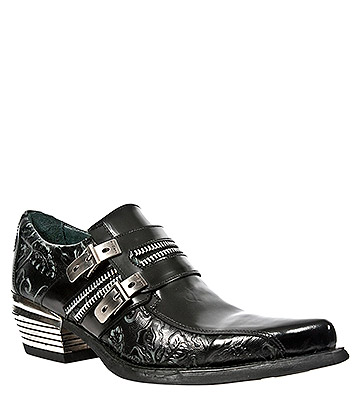 New Rock M.WST002-S1 Dallas Vintage Shoes (Black)