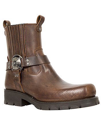 New Rock M.7605-S20 Motorcycle Pull On Boots (Brown)