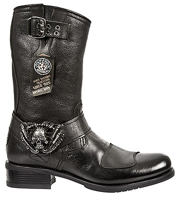 New Rock M.GY07-S10 Biker Half Boots (Black)