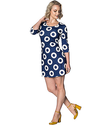 Banned Geo 60s Dress (Blue)