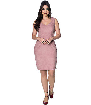 Banned 60s Cord Dress (Pink)