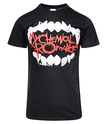 Official My Chemical Romance Fangs T Shirt (Black)