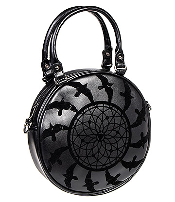 Banned Dreamcatcher Round Handbag (Black)