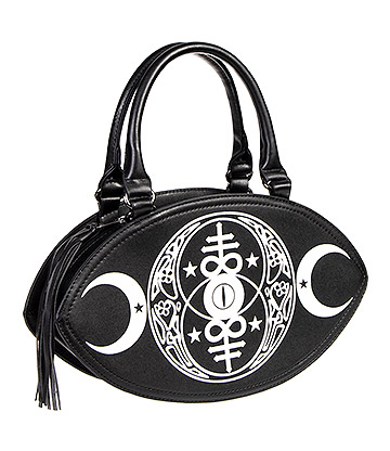 Banned New Moon Gothic Handbag (Black)