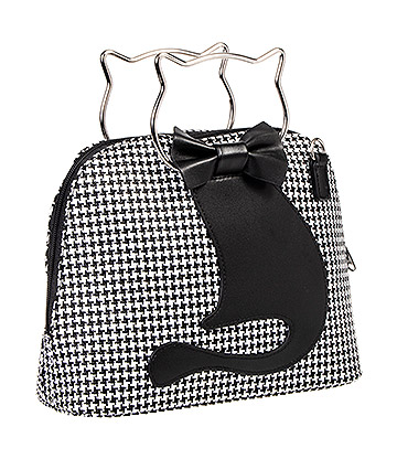 Banned Dixie Houndstooth Handbag (Black/White)