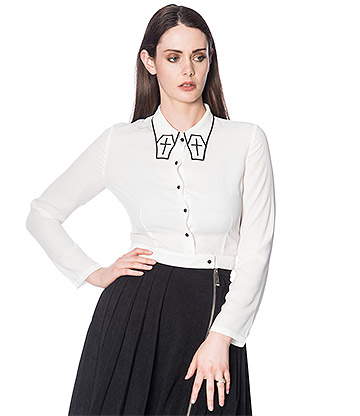 Banned Undertaker Blouse (White)