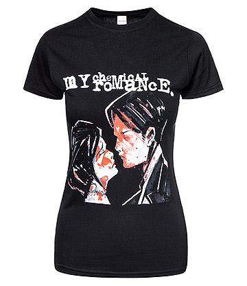 Official My Chemical Romance Three Cheers Skinny T Shirt (Black)