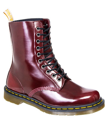 Dr Martens 1490 Cambridge Brush Vegan Boots (Cherry Red)