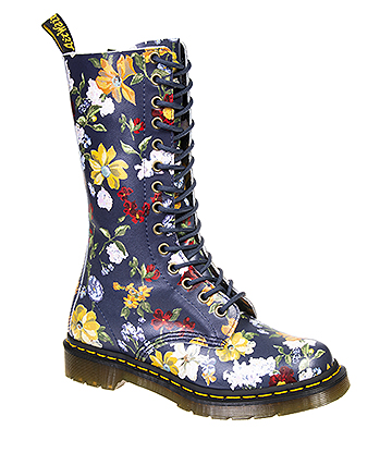 Dr Martens 1914 Darcy Floral Boots (Navy)