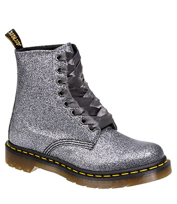Dr Martens 1460 Pascal Glitter Boots (Pewter)
