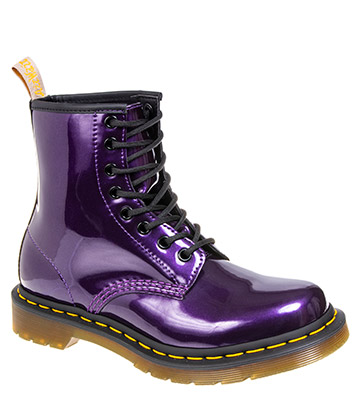 Dr Martens 1460 Vegan Chrome Metallic Boots (Dark Purple)