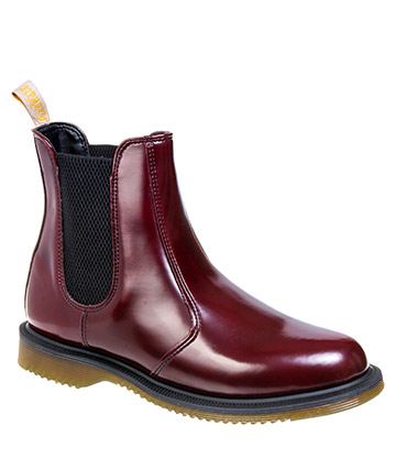 Dr Martens Vegan Flora Boots (Cherry Red)