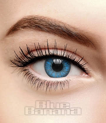 Mystic 90 Day Coloured Prescription Contact Lenses (Aqua Blue)