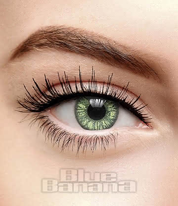 Two Tone 90 Day Coloured Prescription Contact Lenses (Green)
