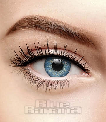 Dusky 90 Day Coloured Prescription Contact Lenses (Blue)