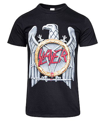 Official Slayer Silver Eagle T Shirt (Black)