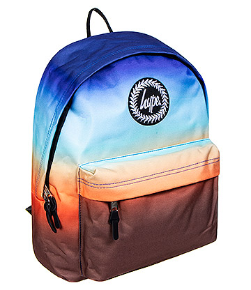 Hype 3 Tone Fade Backpack (Brown/Orange/Blue)