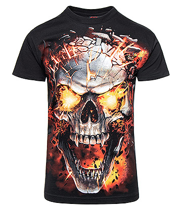 Spiral Direct Skull Blast T Shirt (Black)