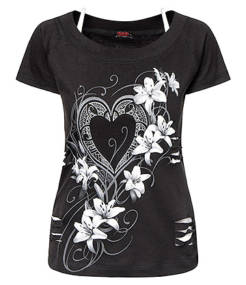 Spiral Direct Pure Of Heart 2 in 1 Top (Black)