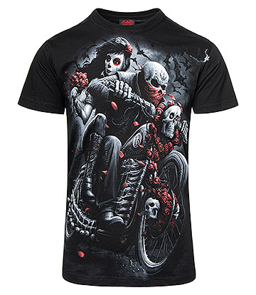Spiral Direct Day Of The Dead Bikers T Shirt (Black)