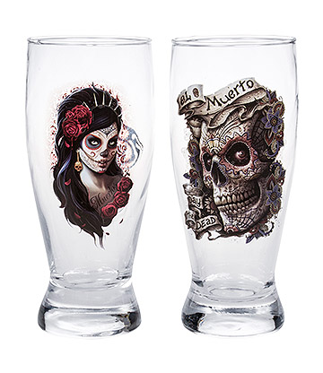 Spiral Direct Day Of The Dead Water Glasses (Set of 2)