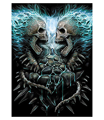 Spiral Direct Flaming Spine Poster