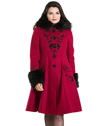 Hell Bunny Anderson Coat (Red)