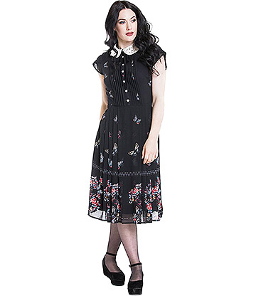 Hell Bunny Butterfly Dress (Black)