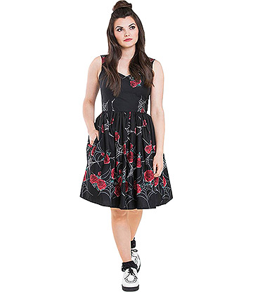 Hell Bunny Sabrina 50s Dress (Black)