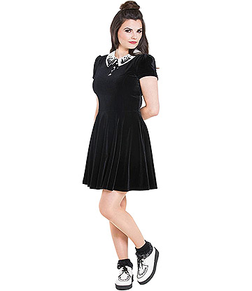 Hell Bunny Graveyard Mini Dress (Black)