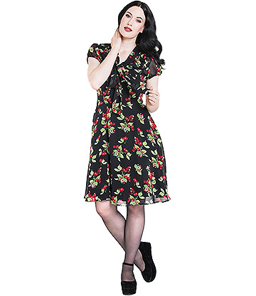 Hell Bunny Charlotte Dress (Black)