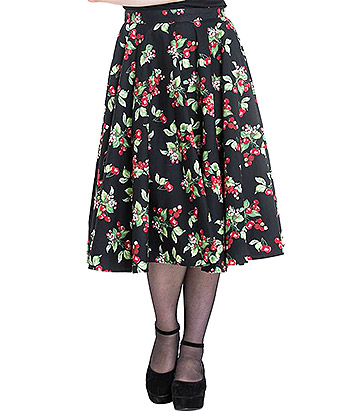 Hell Bunny Cherie 50s Skirt (Black)