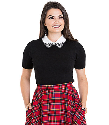 Hell Bunny Bow Top (Black)