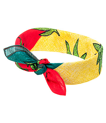 Blue Banana Rasta Leaf Bandana (Multicoloured)