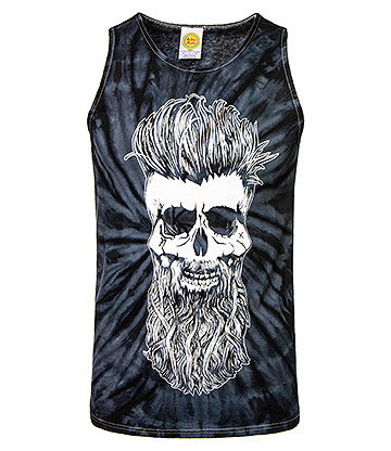 Cosmic Dead Beard Tie Dye Vest Top (Black)