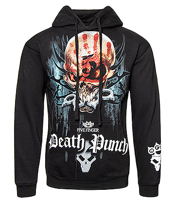 Spiral Direct Five Finger Death Punch Game Over Hoodie (Black)