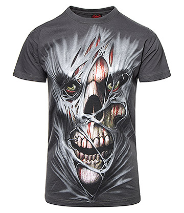 Spiral Direct Stitched Up T Shirt (Charcoal)