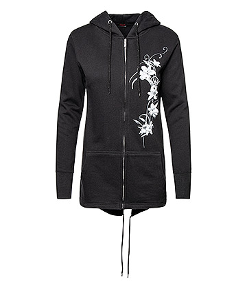 Spiral Direct Pure Of Heart Fish Tail Hoodie (Black)