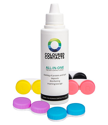 Coloured Contacts All-In-One Premium Lens Solution Set (100ml)