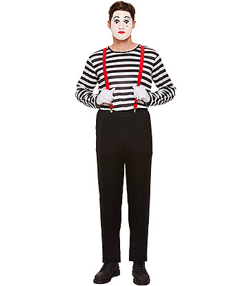 Blue Banana Male Mime Costume